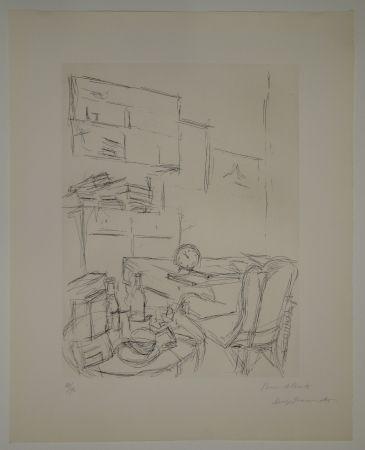 Engraving Giacometti - Le Réveil dans la chambre rue Hippolyte Maindron / Le Réveille-matin (The Alarm Clock).