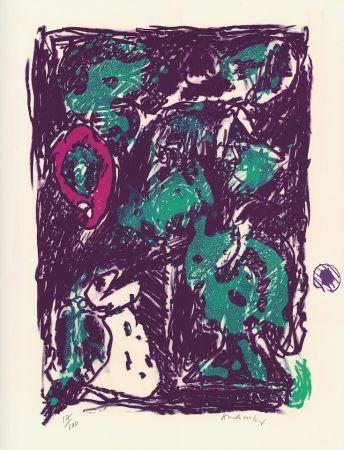 Lithograph Alechinsky - Le rare heureux