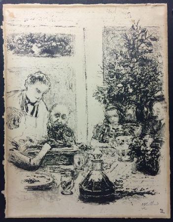 Lithograph Vuillard  - Le repas