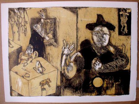 Lithograph Cuevas - Le repas du magicien