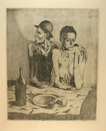 Etching Picasso - Le repas frugal