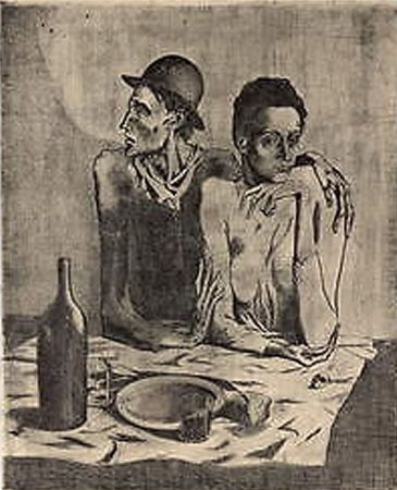 Lithograph Picasso (After) - Le Repas Frugal