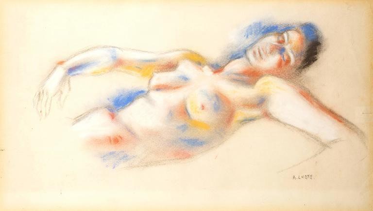 Lithograph Lhote - Le Repos de la Femme