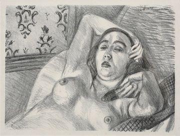 Lithograph Matisse - Le repos du modele