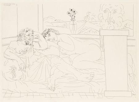 Engraving Picasso - Le repos du sculpteur 4
