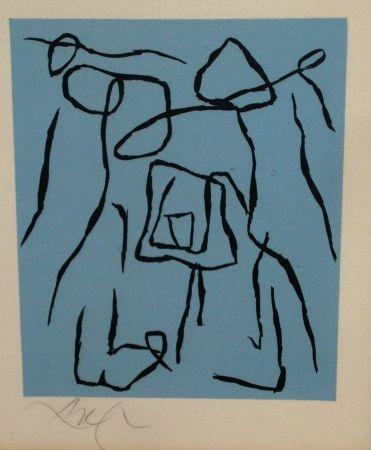 Woodcut Arp - Le rideau