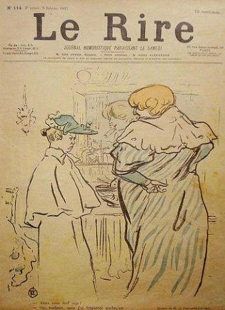 Lithograph Toulouse-Lautrec - Le Rire