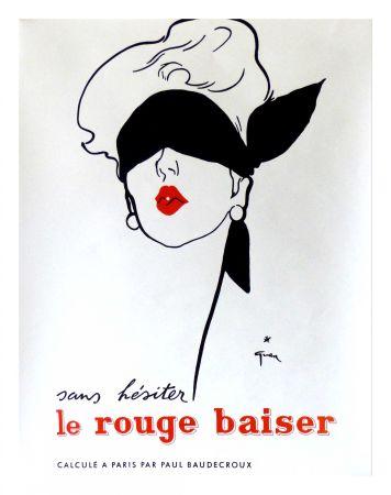 Poster Gruau - LE ROUGE BAISER