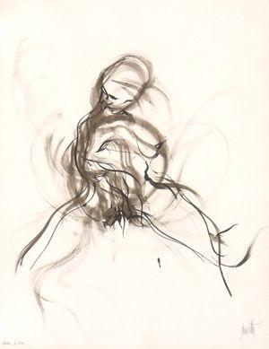 Lithograph Moretti - Le rue saint denis