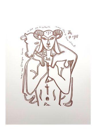 Lithograph Cocteau - Le Sauveur
