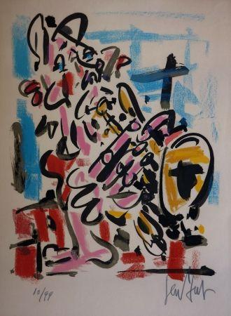 Lithograph Paul  - Le Saxophoniste / The Saxophonist