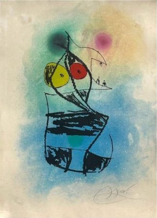 Etching And Aquatint Miró - Le scorpion joufflu
