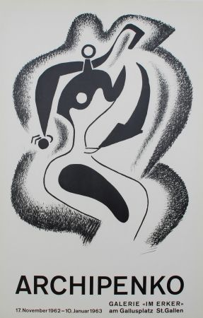 Lithograph Archipenko - Le sculpteur (The Sculptor)
