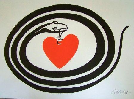 Lithograph Calder - Le serpent