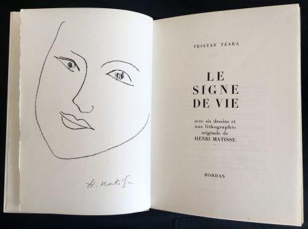 Illustrated Book Matisse - LE SIGNE DE VIE. Avec six dessins et une lithographie originale d'Henri Matisse.