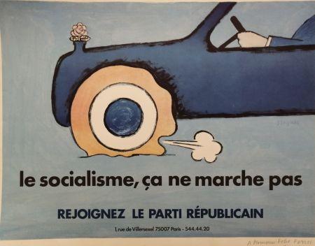 Lithograph Savignac - Le Socialisme, ça ne marche pas