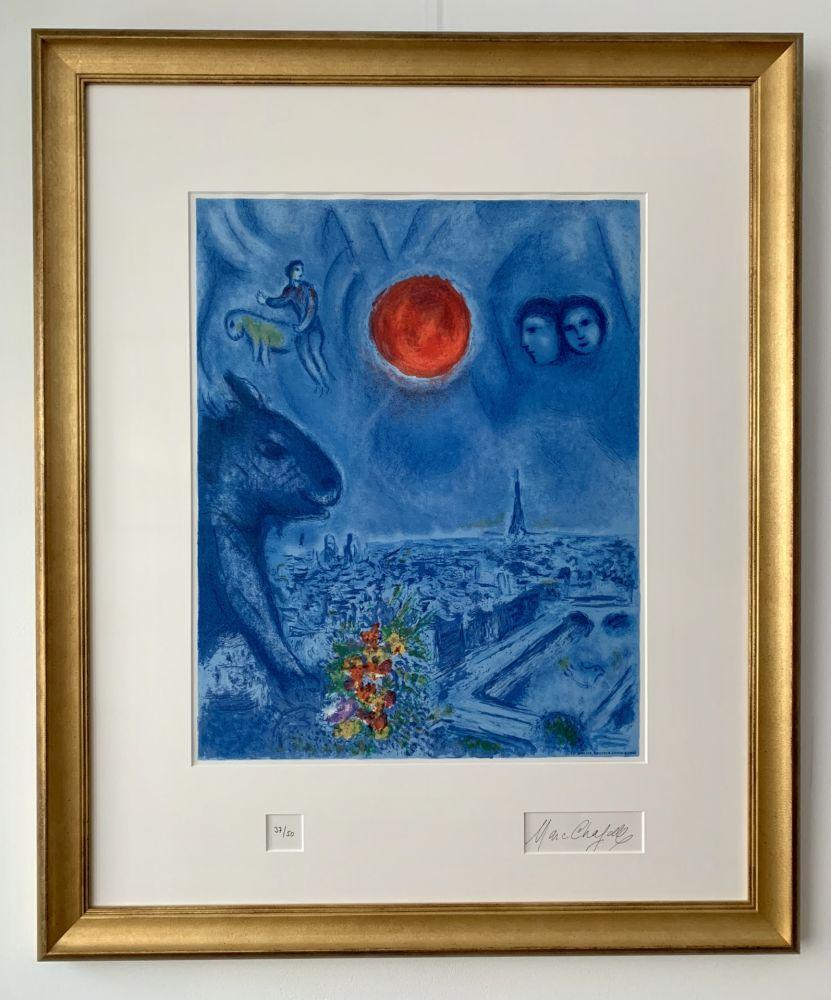 Lithograph Chagall - Le Soleil de Paris
