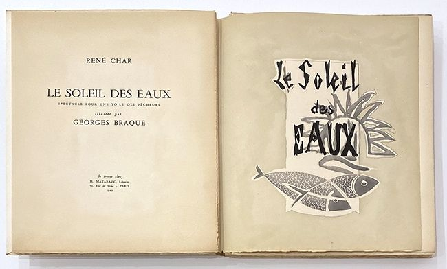 Illustrated Book Braque - Le soleil des eaux
