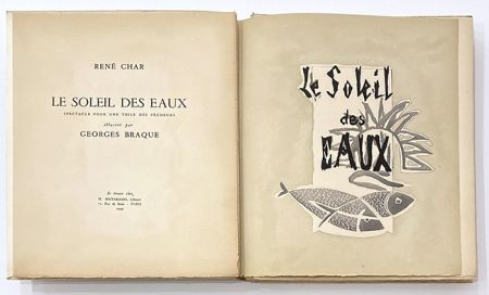 Illustrated Book Braque - Le soleil des eaux