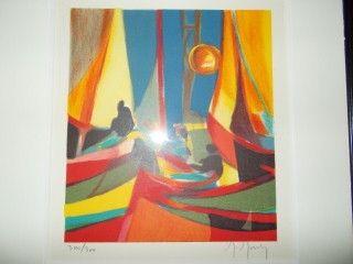 Lithograph Mouly - Le soleil jaune