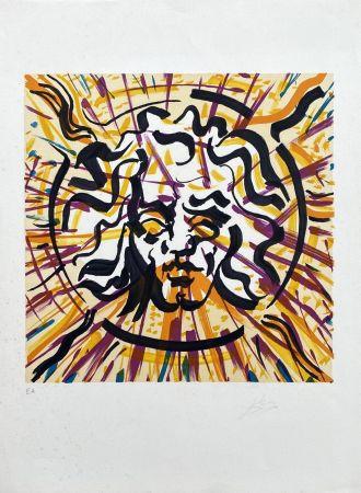 Lithograph Dali - Le Soleil (Les Vitraux)