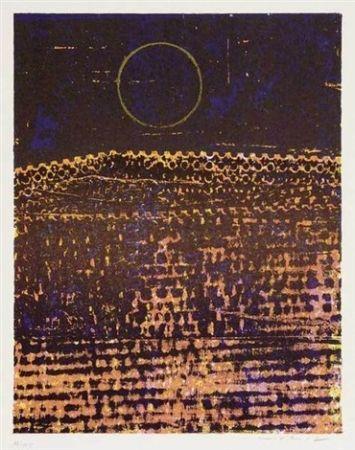 Lithograph Ernst - Le Soleil(La Ville Entiere)