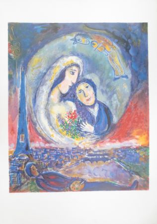 Lithograph Chagall - Le songe