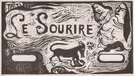 Woodcut Gauguin - Le Sourire