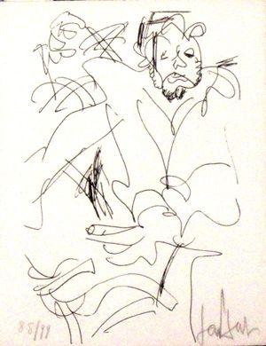 Lithograph Paul  - Le spectateur