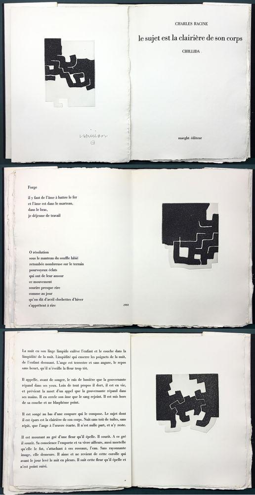 Illustrated Book Chillida - LE SUJET EST LA CLAIRIÈRE DE SON CORPS. Poèmes de Jean Racine