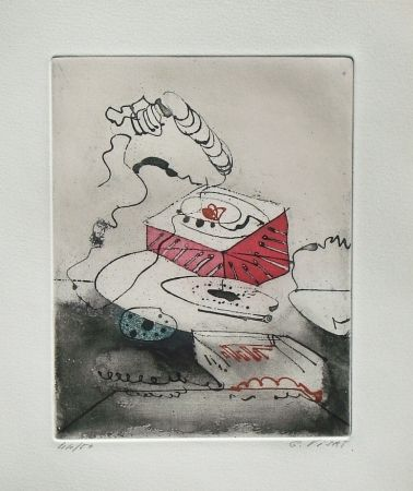 Etching And Aquatint Visat - Le Téléphon