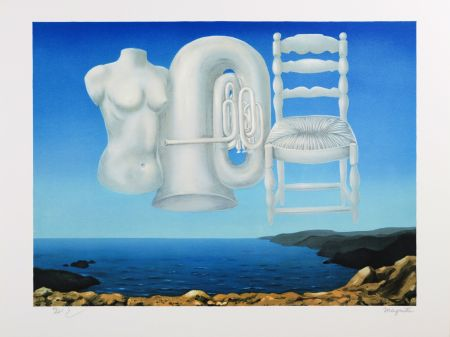 Lithograph Magritte - Le Temps Menaçant (Threatening Weather)