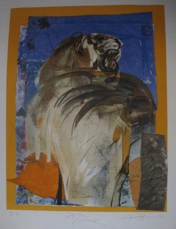 Lithograph Pomar - Le tigre
