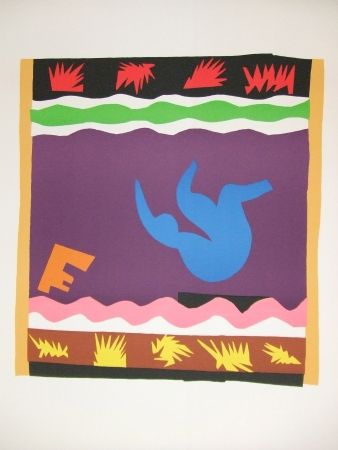 Lithograph Matisse - Le Toboggan
