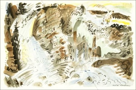Lithograph Masson - Le Torrent.