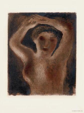 Lithograph Fautrier - Le Torse aux seins