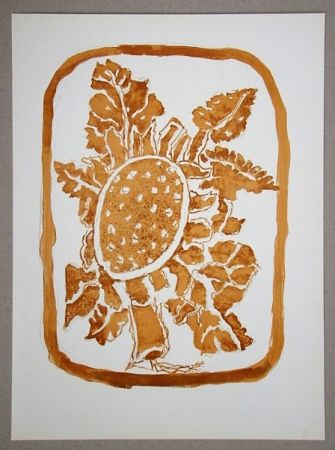 Lithograph Braque (After) - Le Tournesol