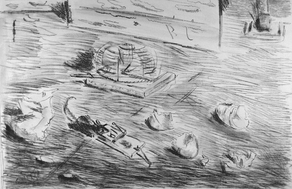 Lithograph De Pisis - Le trappole