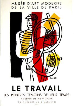 Lithograph Leger - Le Travail  Musee D'Art Moderne