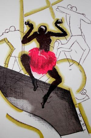 Lithograph Colin - LE TUMULTE NOIR / BLACK THUNDER - Joséphine Baker - 1927