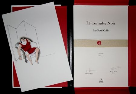 Illustrated Book Colin - LE TUMULTE NOIR / BLACK THUNDER  - Josephine Baker - 45 Lithographies