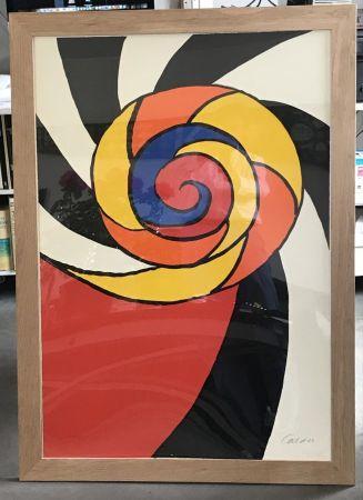 Lithograph Calder - Le turban , 1969