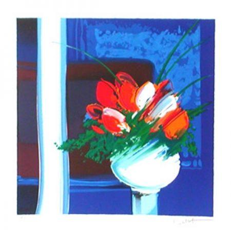 Lithograph Bellet - Le vase blanc