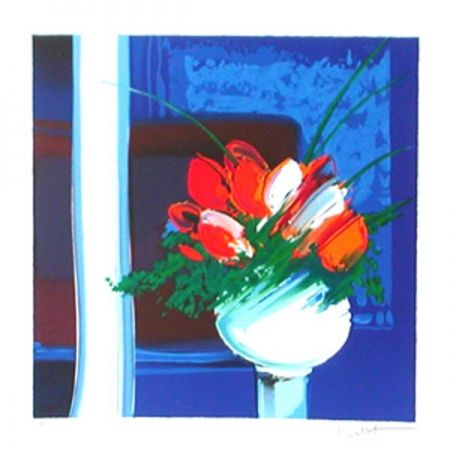 Lithograph De Emile Bellet Le Vase Blanc On Amorosart