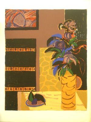 Lithograph Godard - Le vase jaune