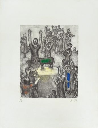 Engraving Chagall - Le Veau d'Or