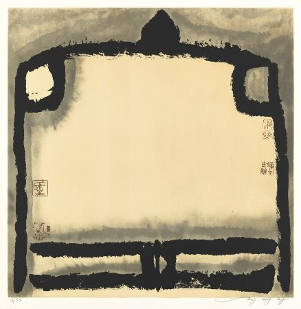 Lithograph Tongzhengang - Le vide