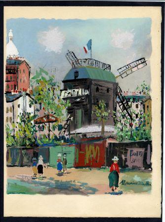 Illustrated Book Utrillo - LE VILLAGE INSPIRÉ. Avec 12 gouaches par Maurice Utrillo (1954).