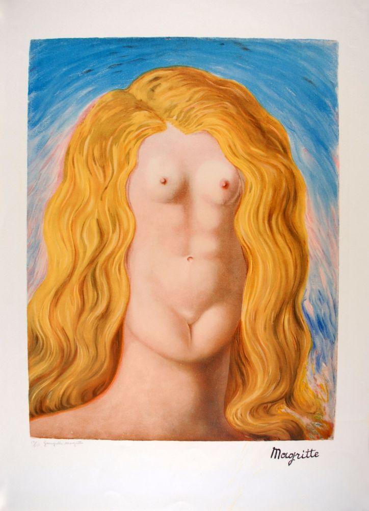 Lithograph Magritte - Le Viol - The Rape