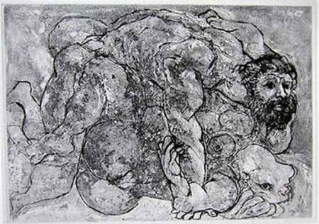 Drypoint Picasso - Le Viol, VII
